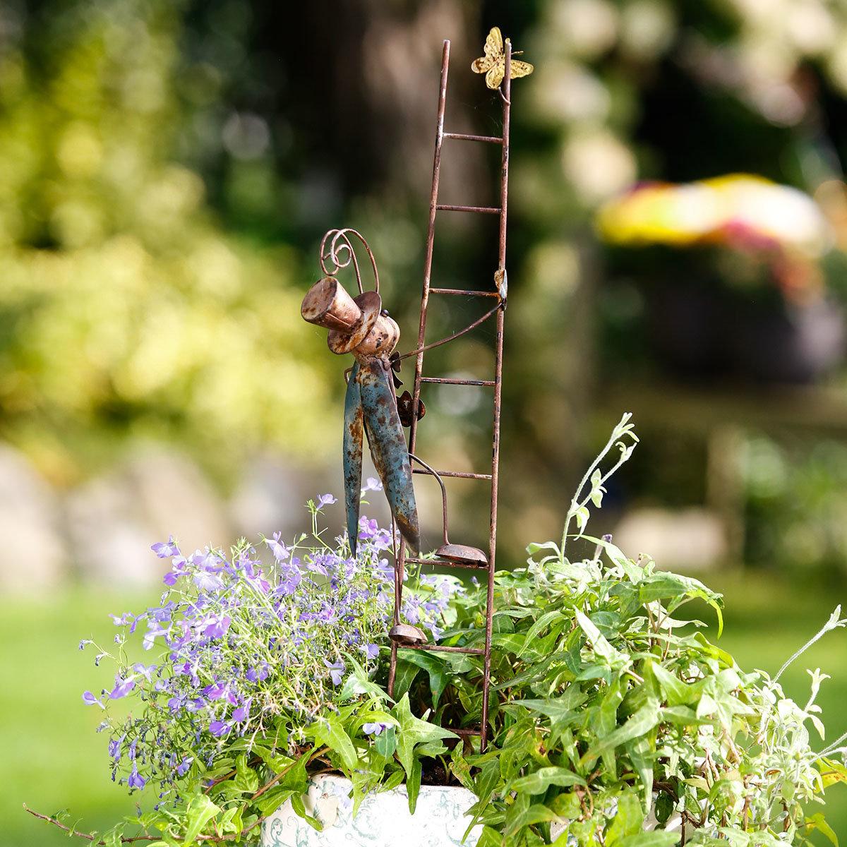 Gartenstecker Flip & Flop mit Leiter, 2er-Set