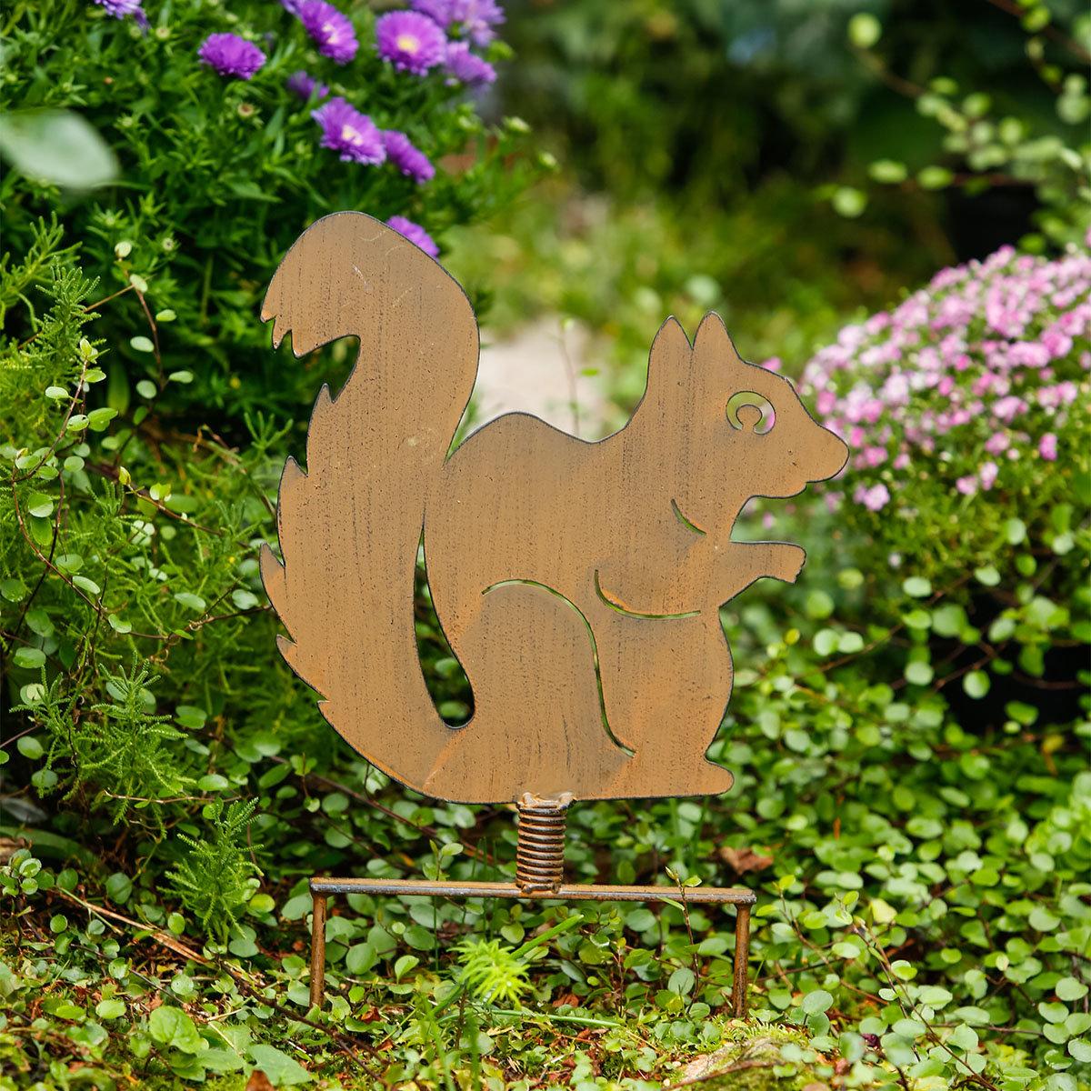 Gartenstecker Eichhörnchen Nüssli