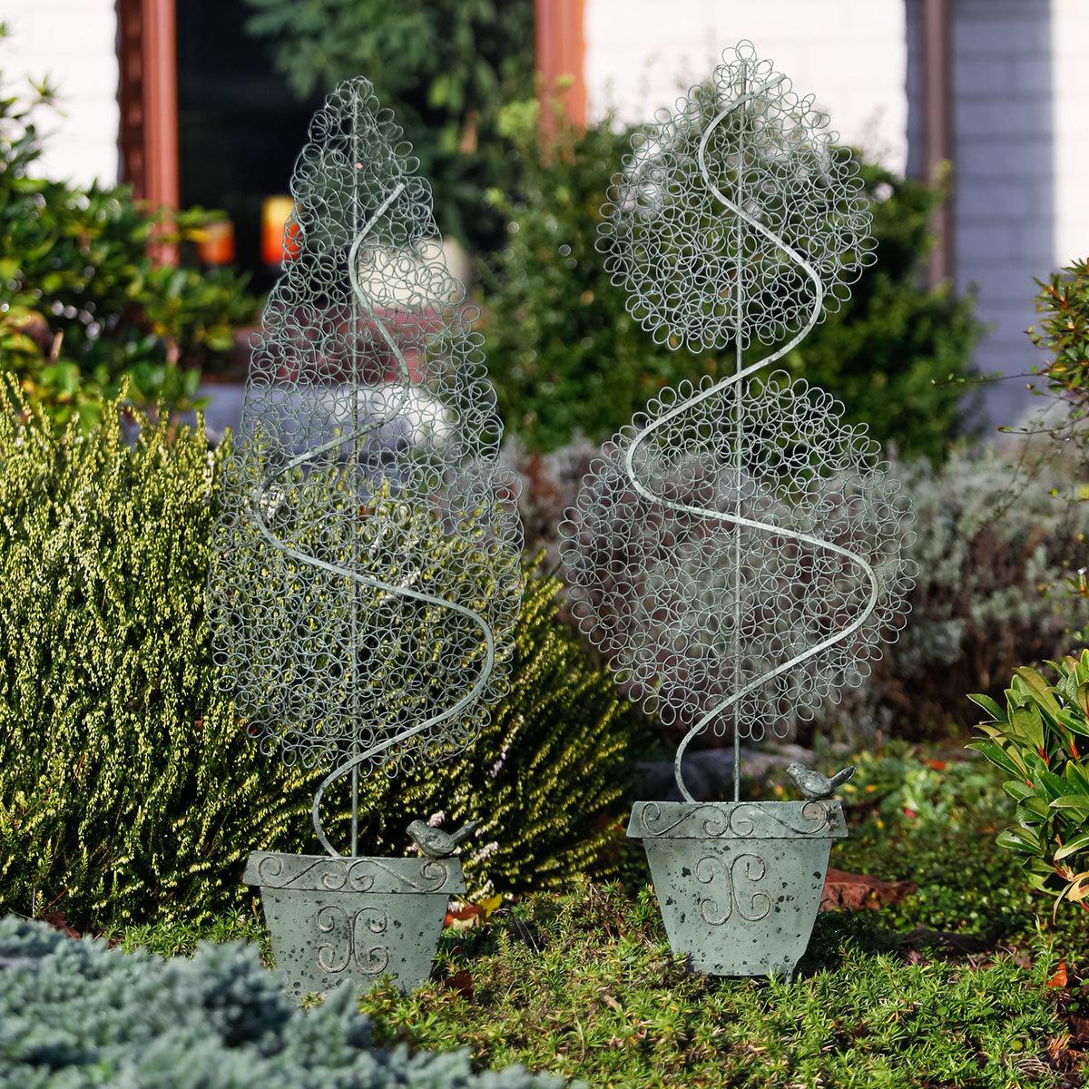Gartenstecker Buchsbaum, 2er-Set