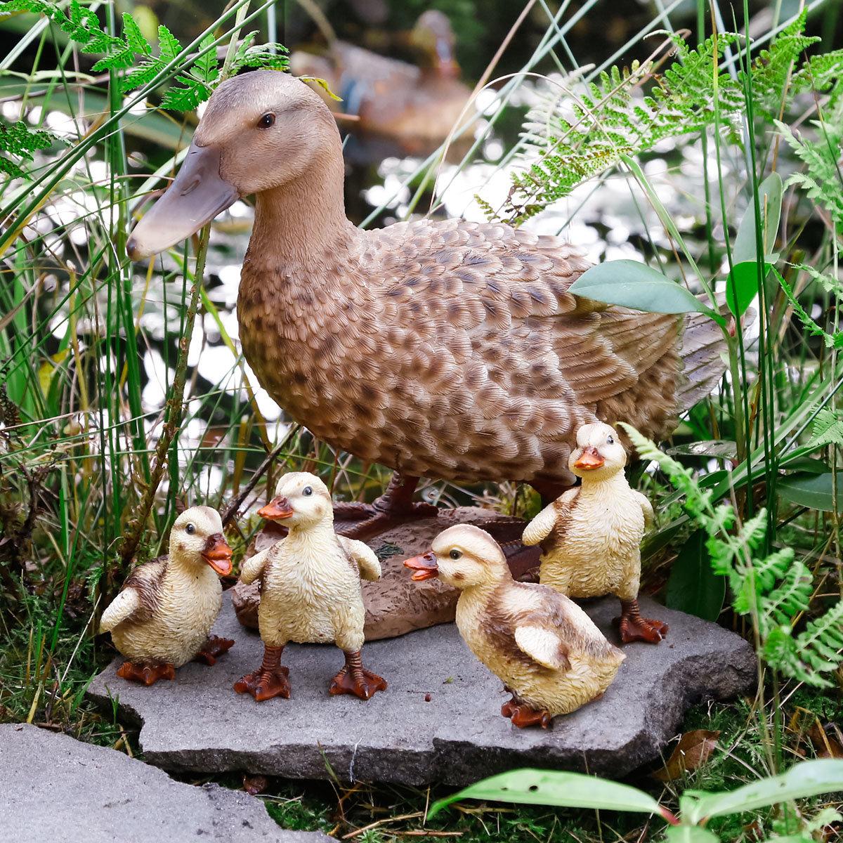 Gartenstecker Entenfamilie 4er Set