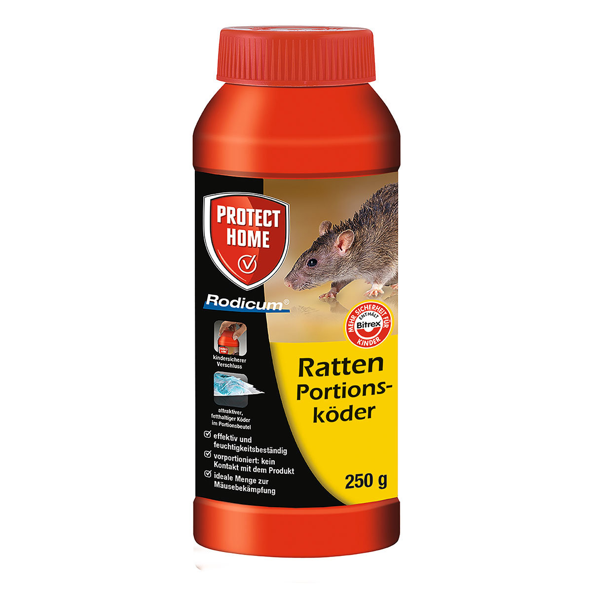 Protect Home Rattenportionsköder, 12 x 250 g