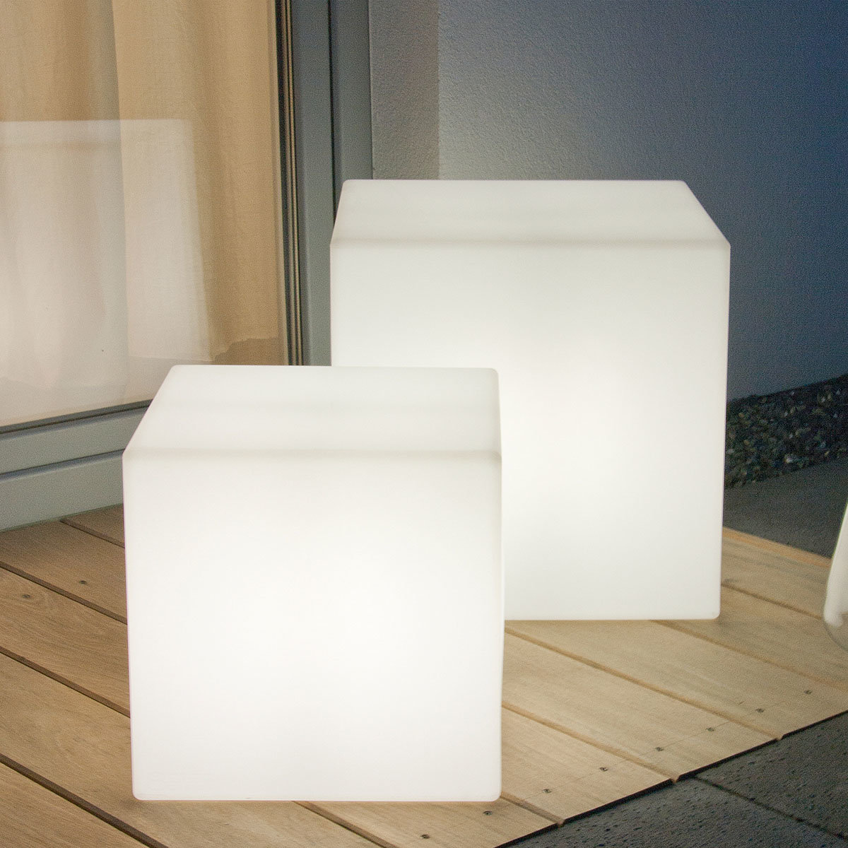 Super LED-Lampe Shining Cube, 43 cm