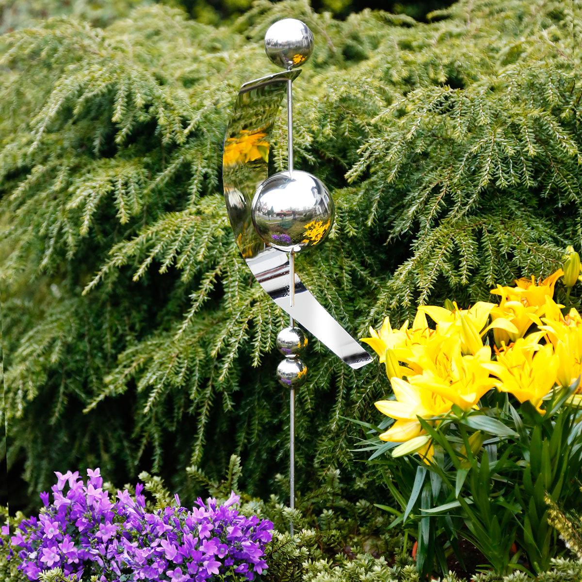 Gartenstecker Halbmond