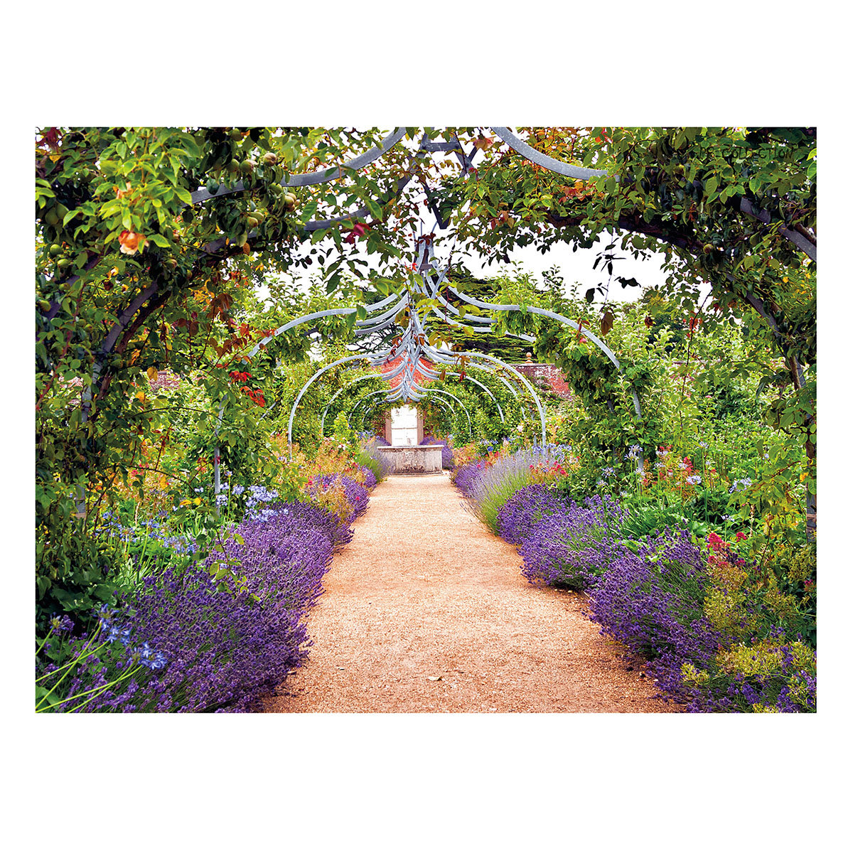 Gartengemälde Rosenbogenweg 130 x 70 cm