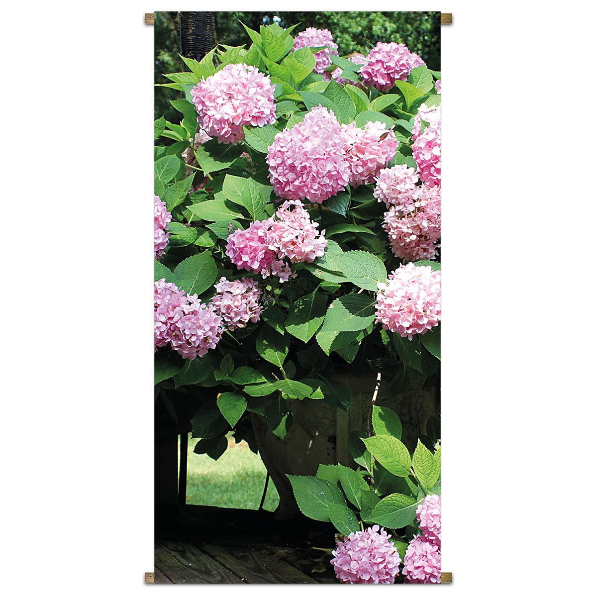 Gartenbanner Hortensienstrauch 170 x 85 cm