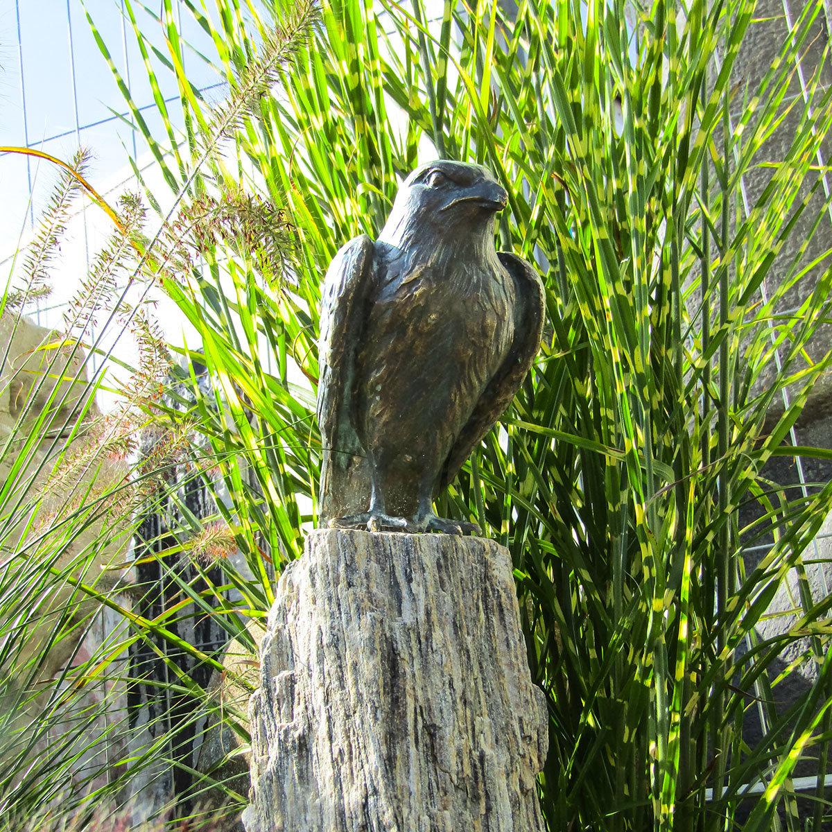 Bronzefigur turmfalke auf granit online kaufen bei g rtner for Gartendeko neuheiten