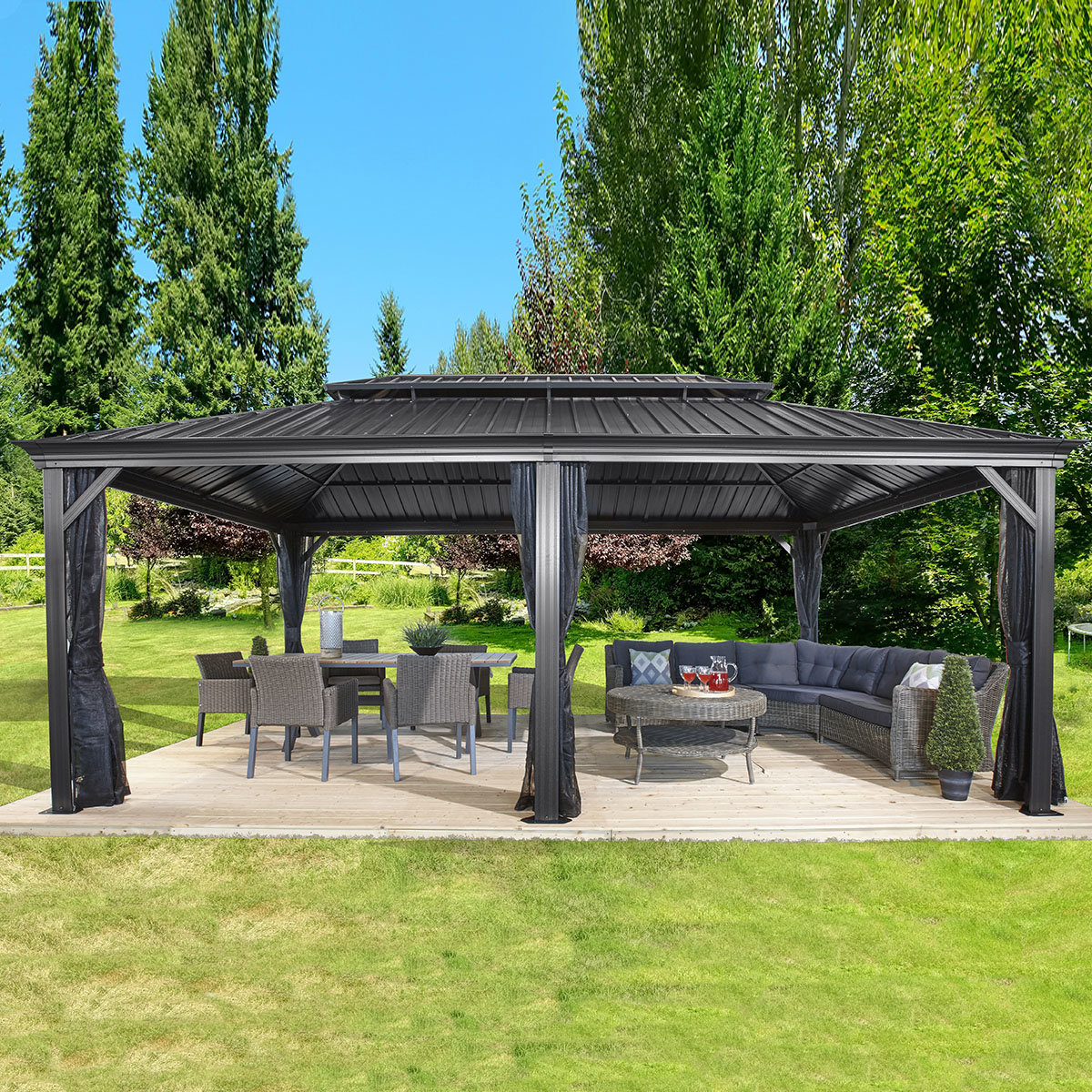 pavillon messina 12x20 online kaufen bei g rtner p tschke. Black Bedroom Furniture Sets. Home Design Ideas