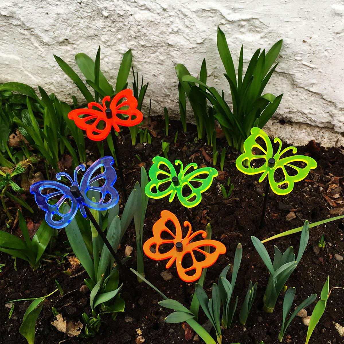 Acryl Sonnenfänger Happy Butterflies, 5er-Set