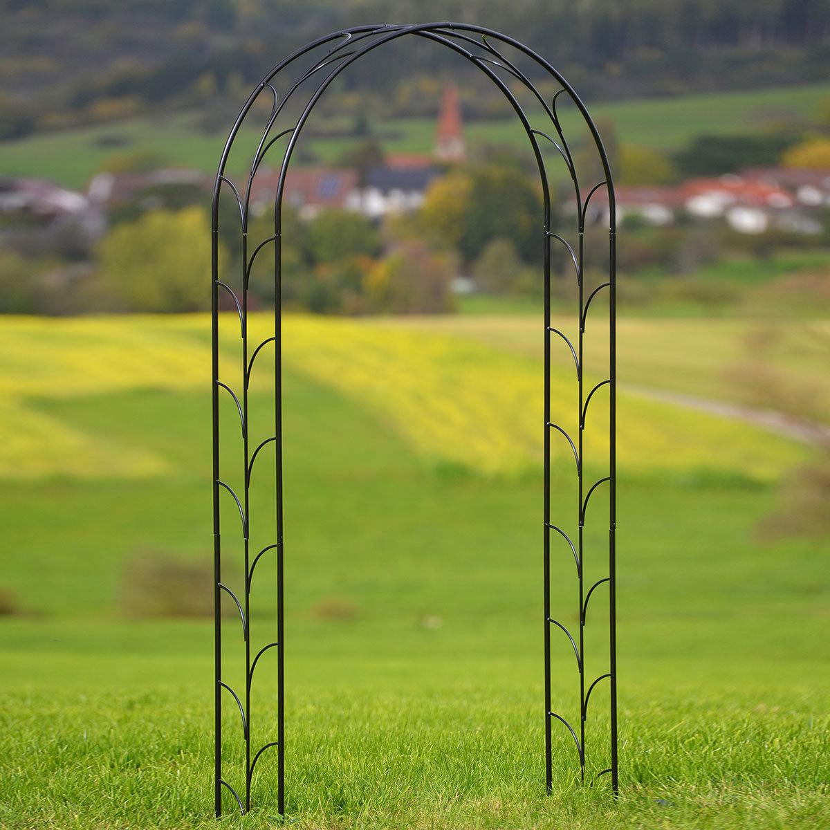 Rosenbogen Liane, anthrazit-metallic