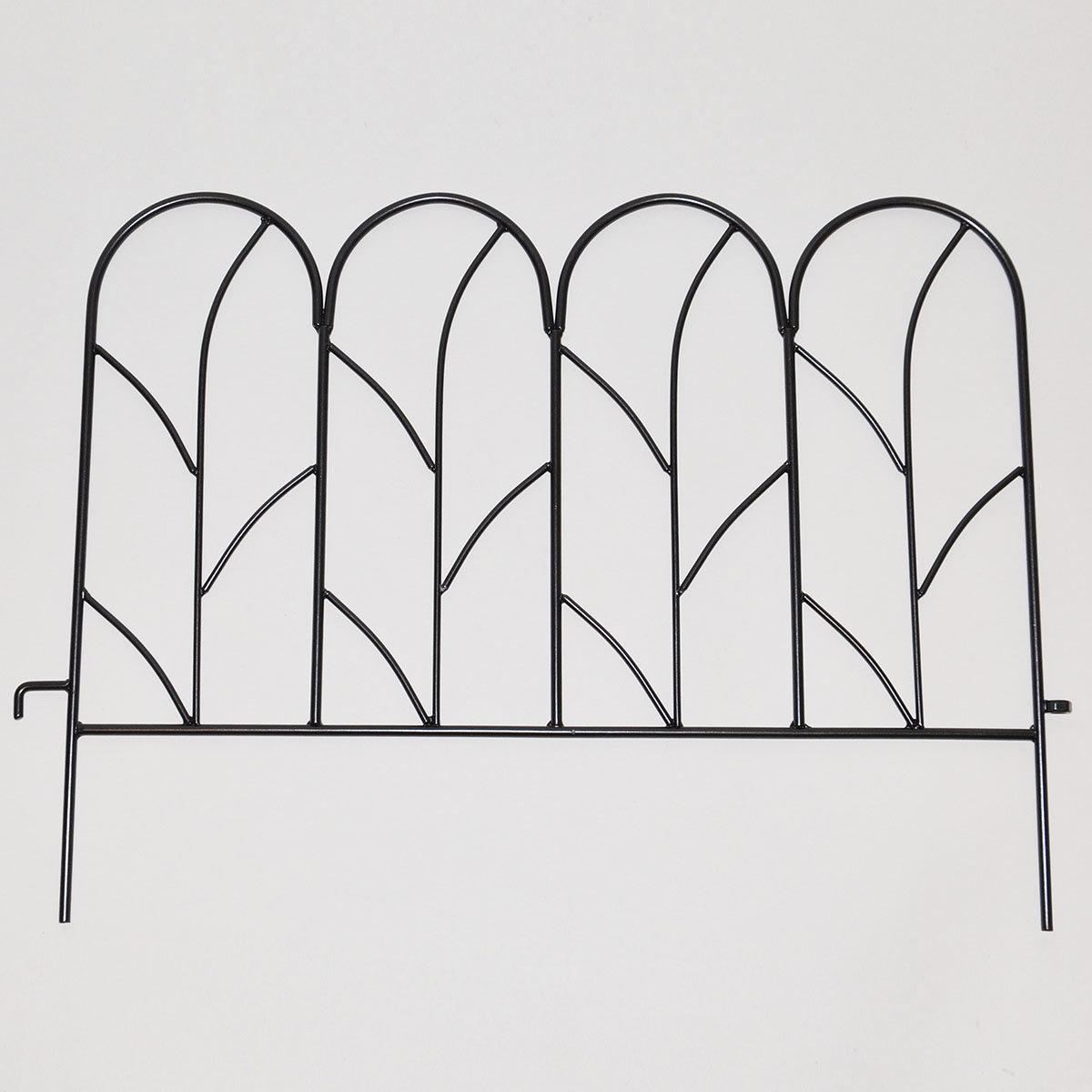 Beetzaun Liane, 4er-Set, anthrazit-metallic
