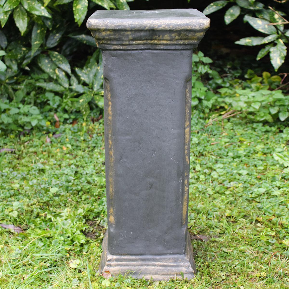 Gartensäule Devon bronziert