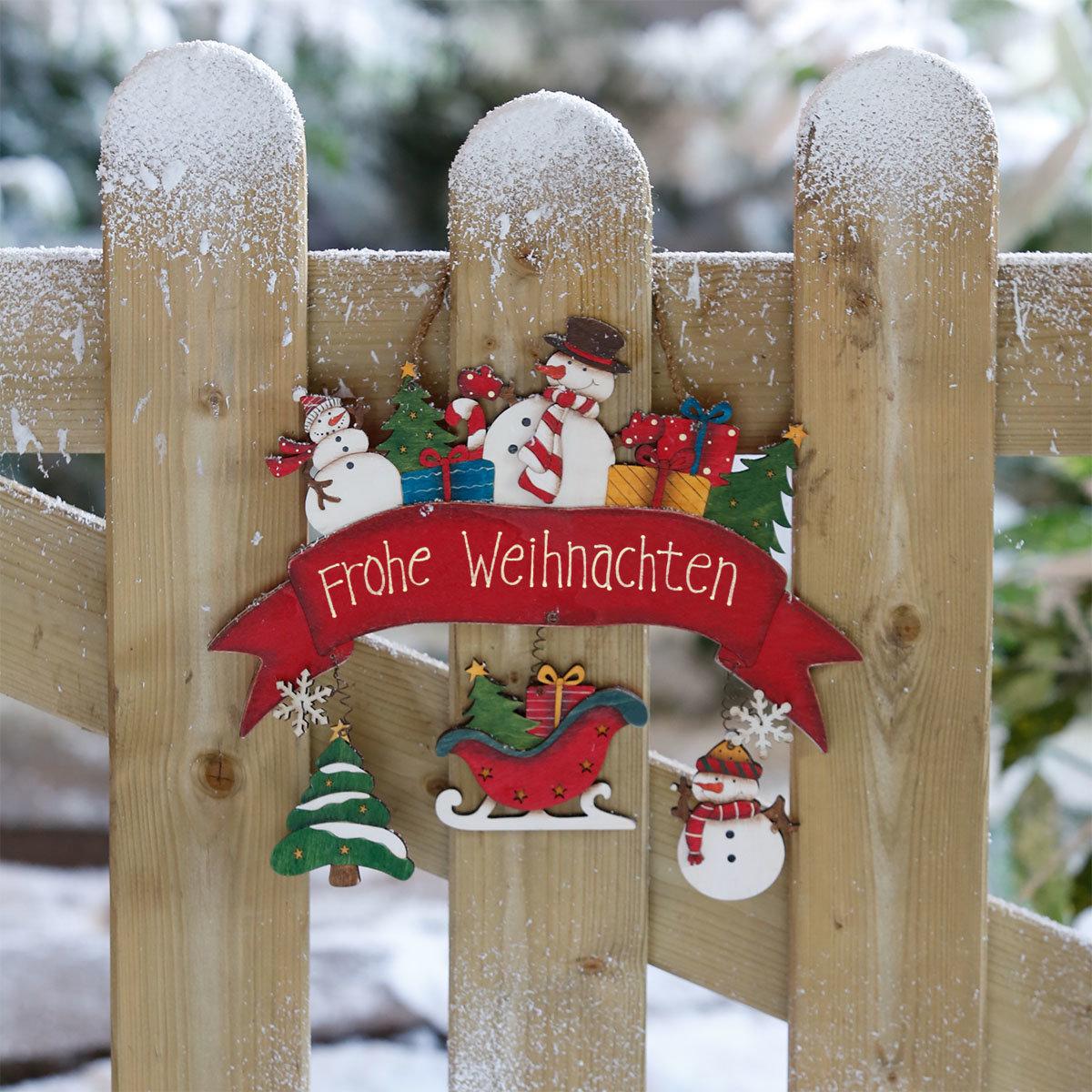 Türschild Frohe Weihnachten