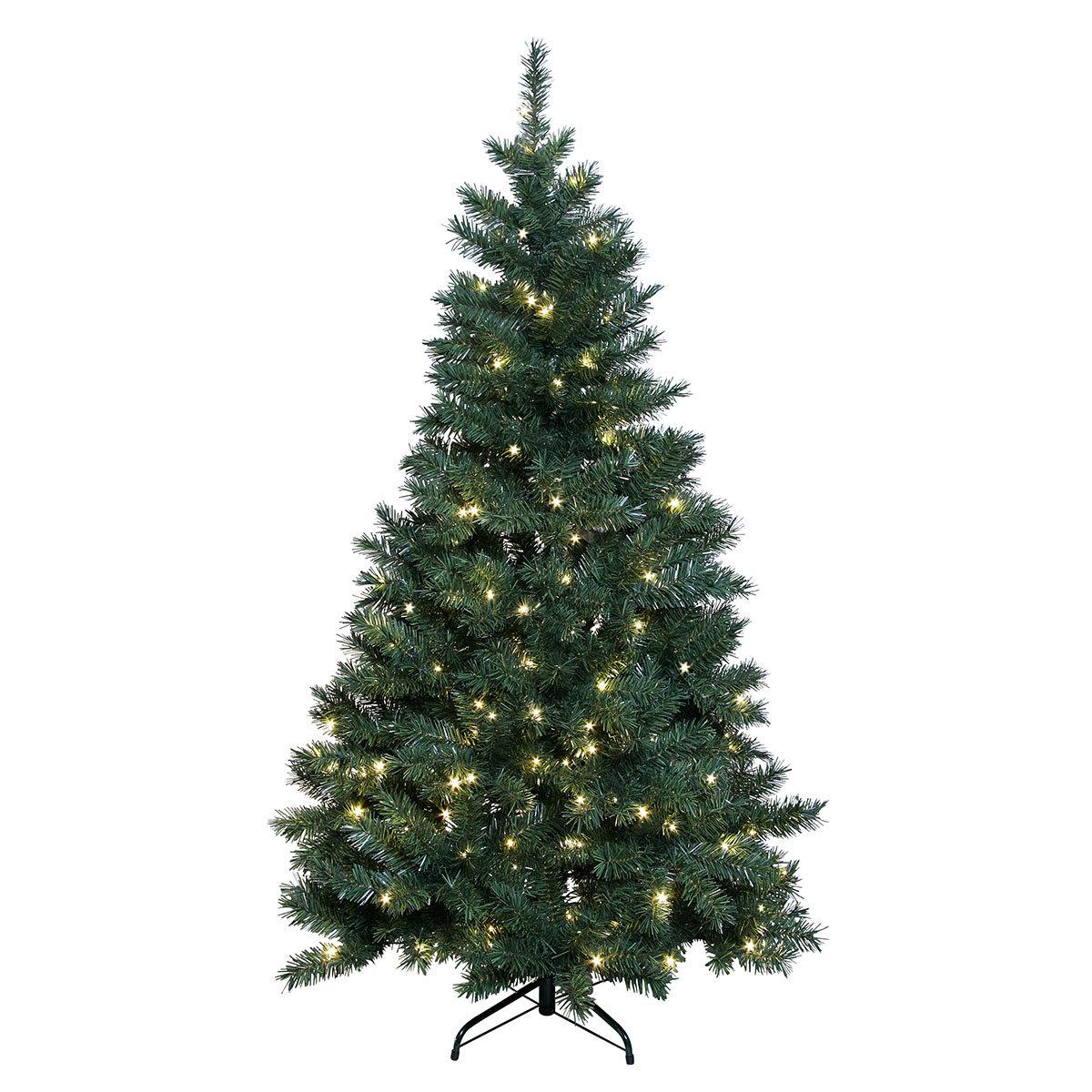 k nstlicher led au en weihnachtsbaum gr ne pracht mittel. Black Bedroom Furniture Sets. Home Design Ideas