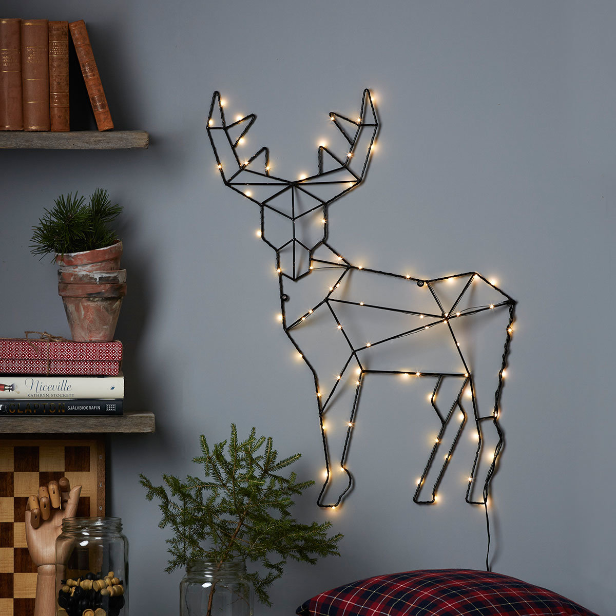 LED-Wanddekoration Rentier Rico
