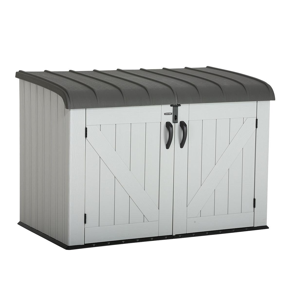 Gerätebox-Mülltonnenbox, 132x191x108 cm, grau