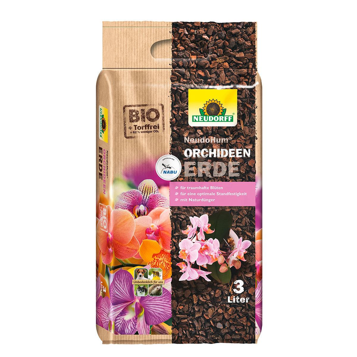 Neudorff NeudoHum® Orchideen Erde, 3-Liter