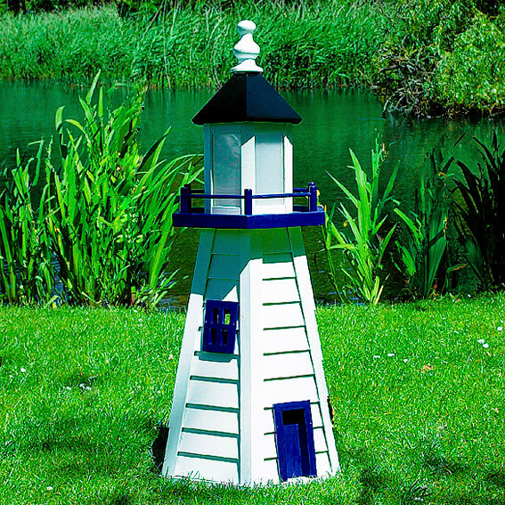 Leuchtturm Norderney klein weiß - blau
