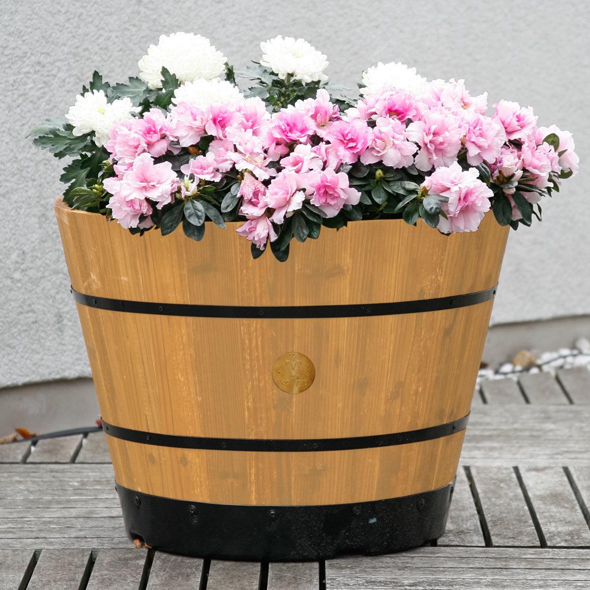Pflanzfass Brandy, 41x55x55 cm, natur