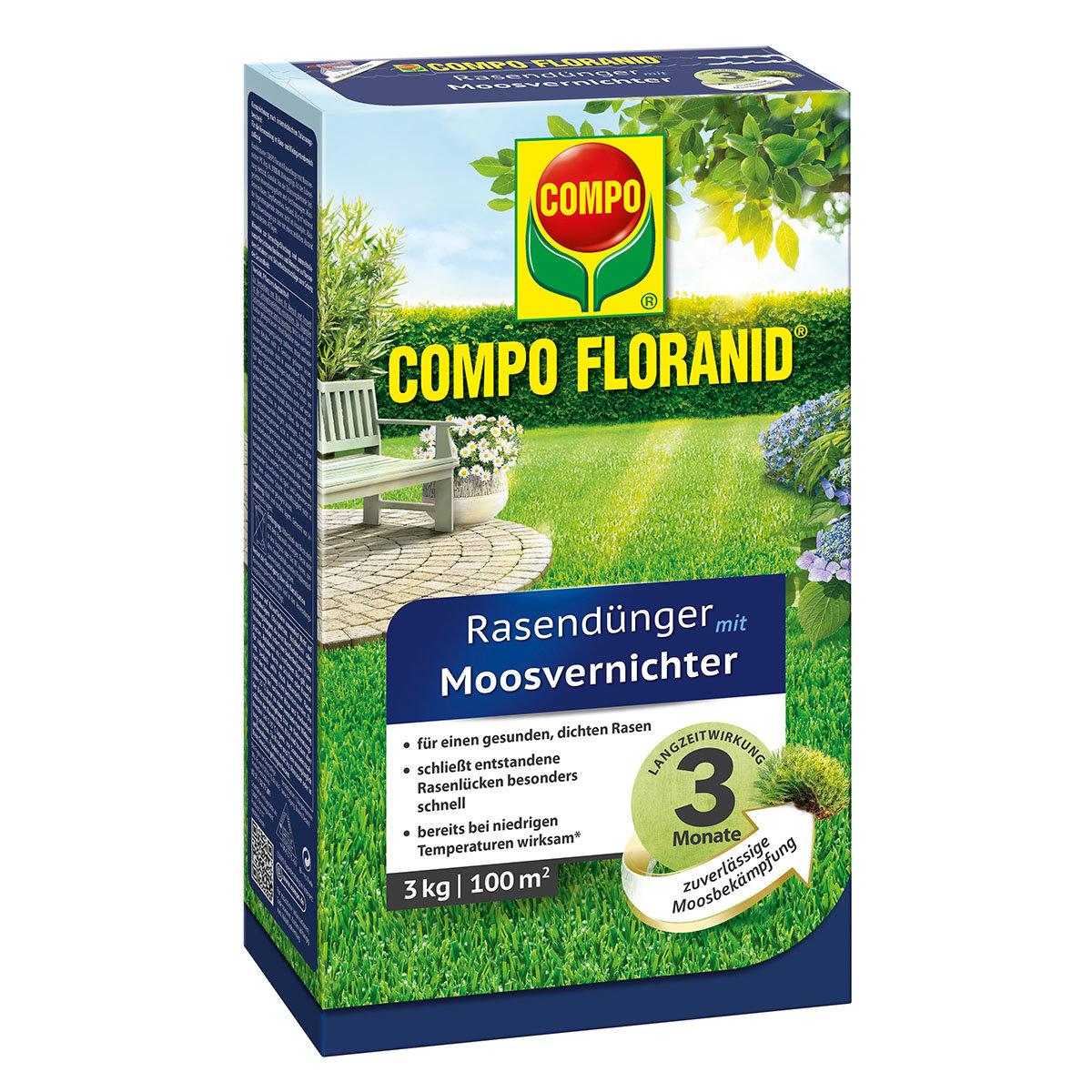 Compo Floranid Rasendünger mit Moosvernichter, 3 kg