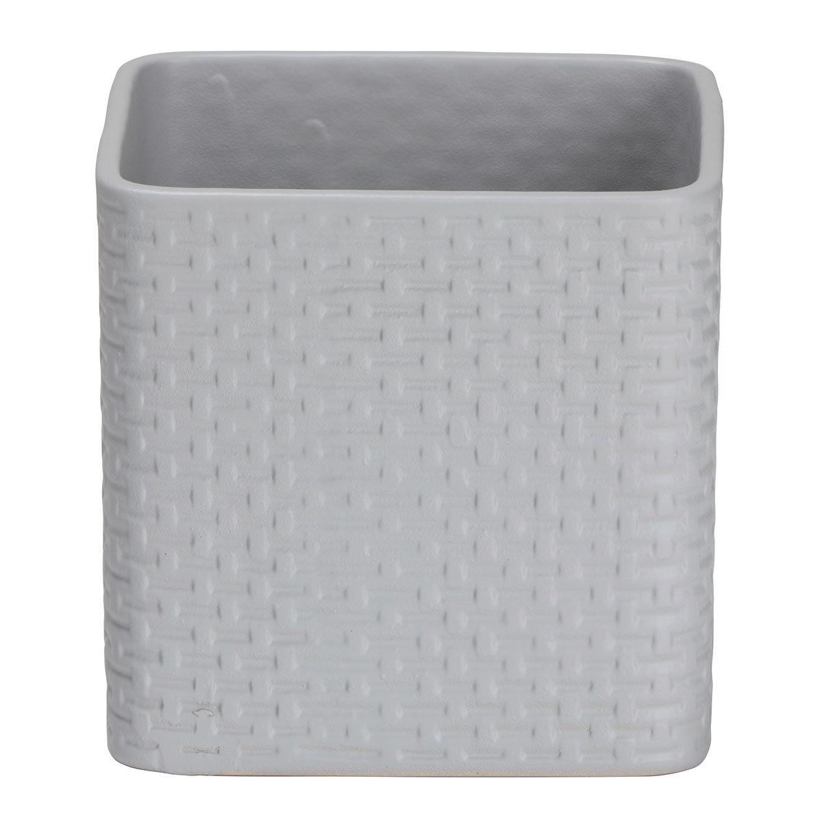 Scheurich Keramik-Übertopf Light Grey, rechteckig 13 cm