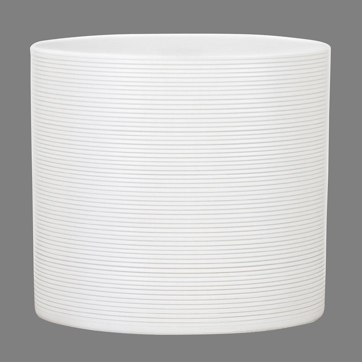 Keramik-Übertopf, rund, 17,1x19x19 cm, Panna