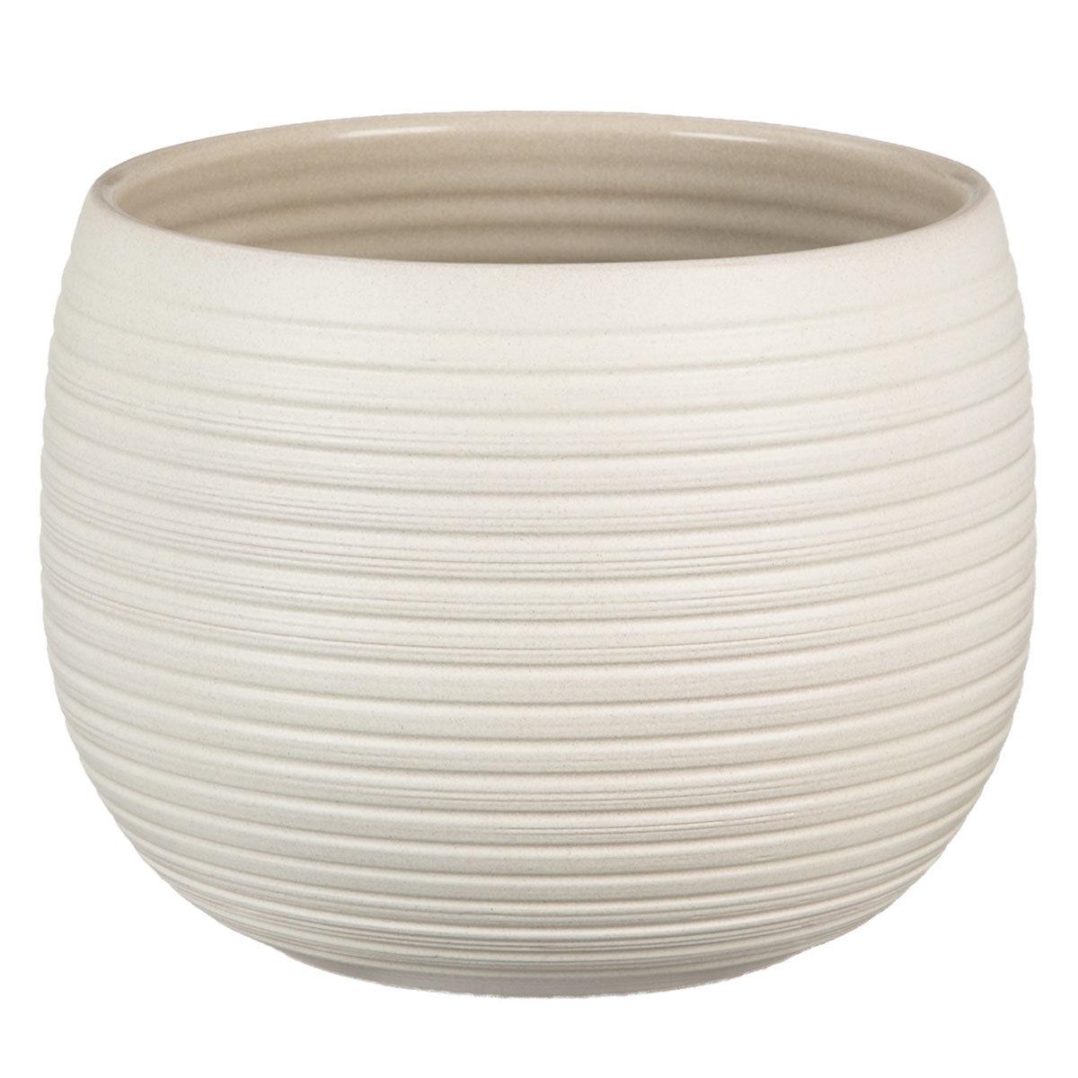 Scheurich Keramik-Übertopf Cream Stone 21 cm