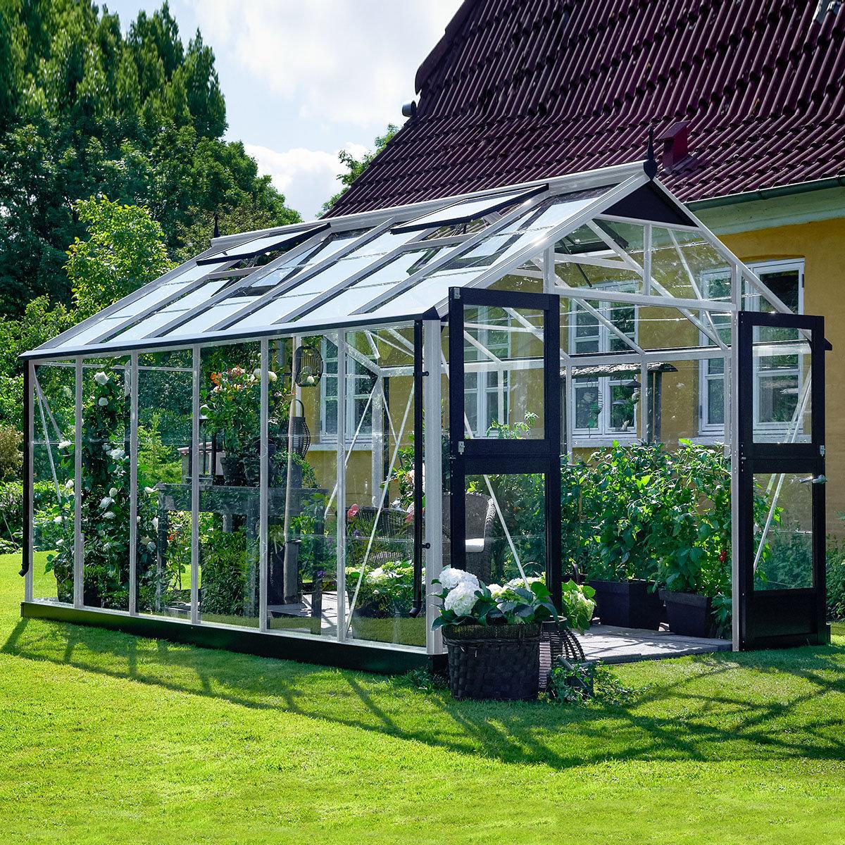 Gewächshaus Premium 13,0 m², silber