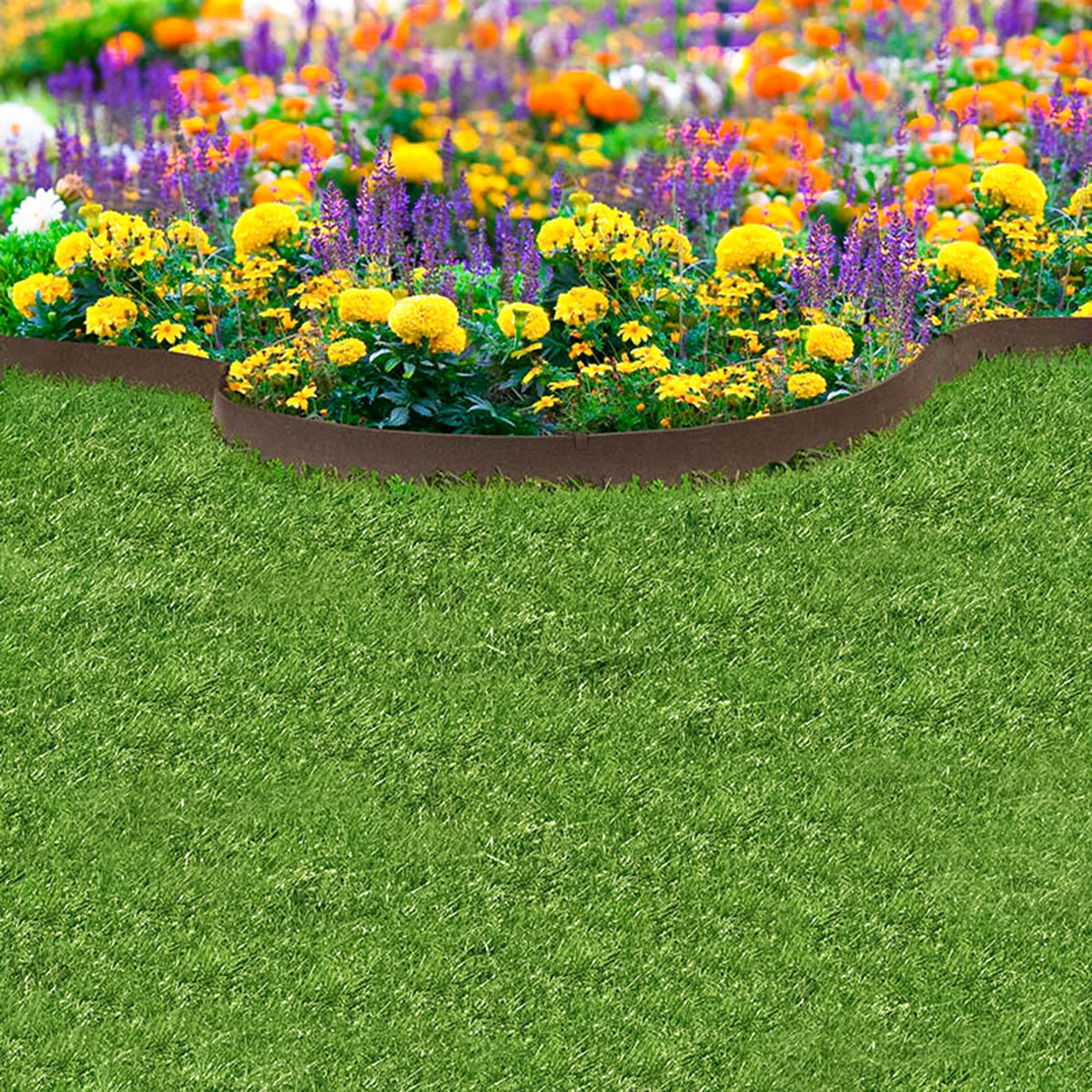 Rasenkante Klassik, 600 cm, braun