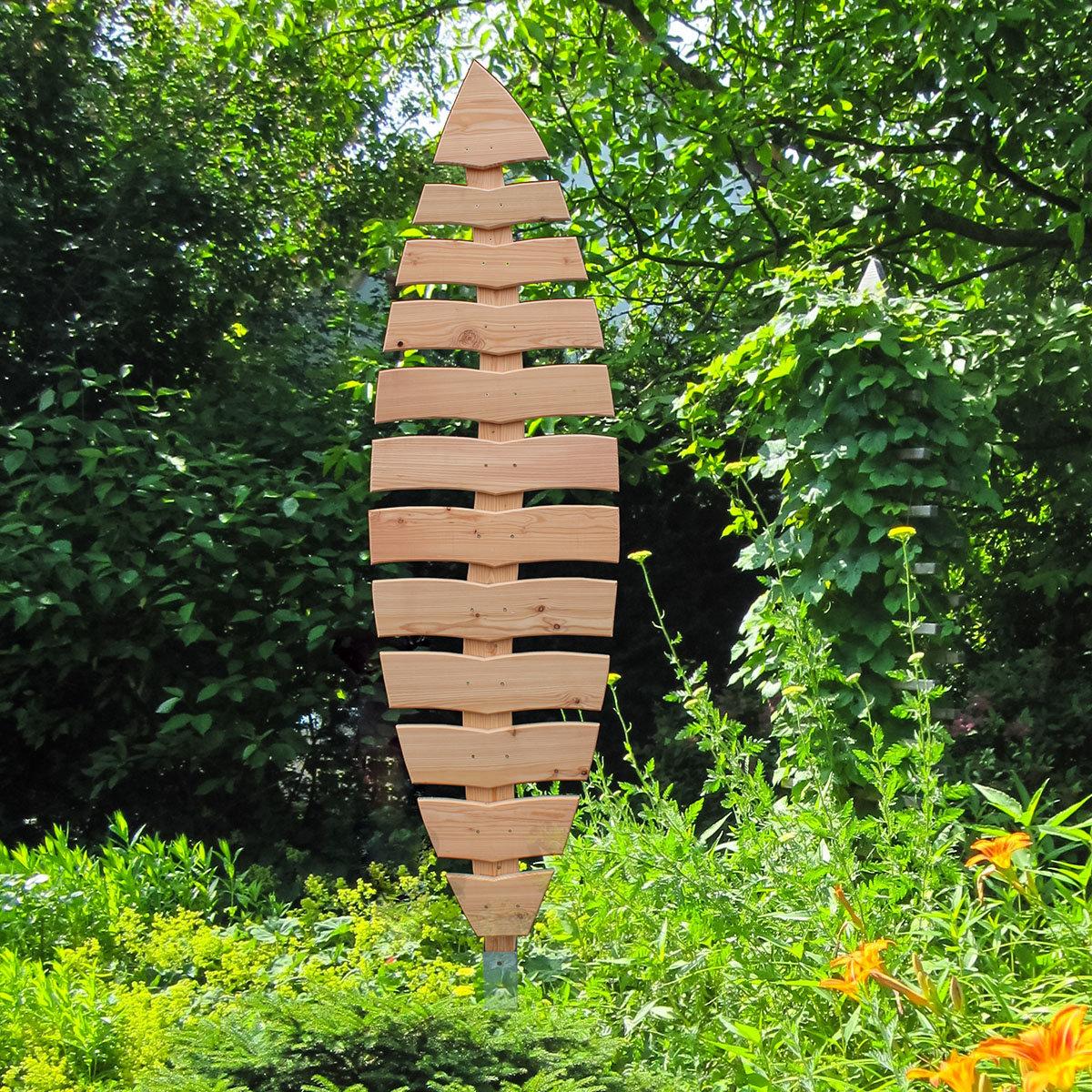 Rankgitter Blatt Salix, 203x51 cm, Lärchenholz, natur