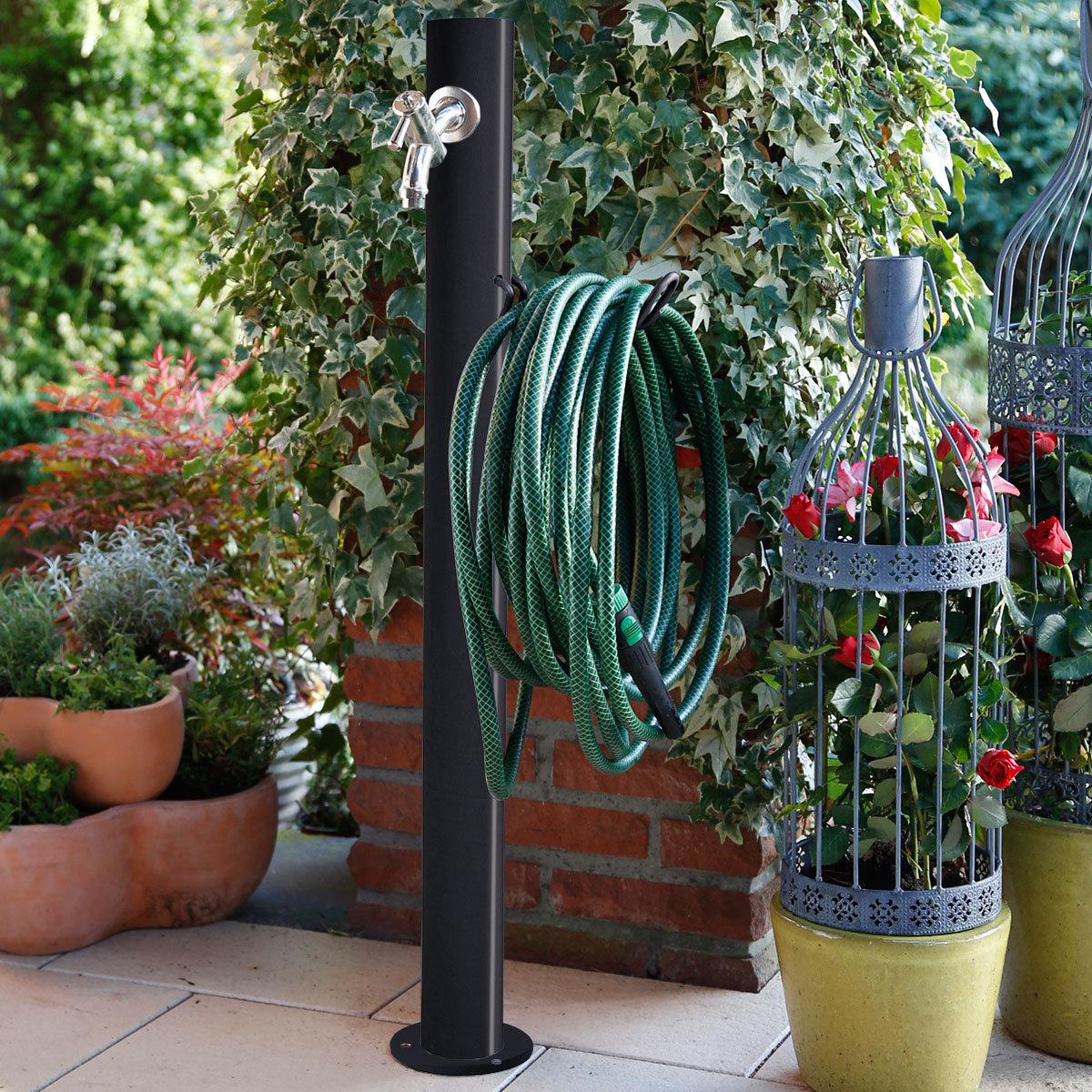 Wasserzapfsäule Tondo, 100x14x21 cm, Stahl, anthrazit