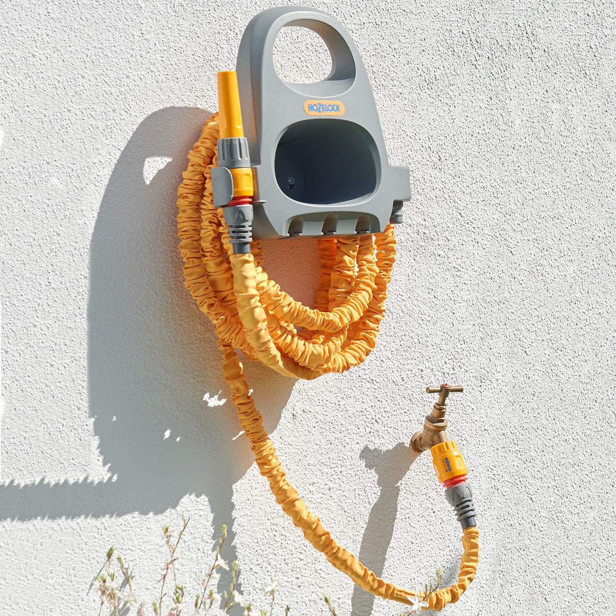 Wandschlauchhalter, mit 15 m Ausdehnungsschlauch Superhoze