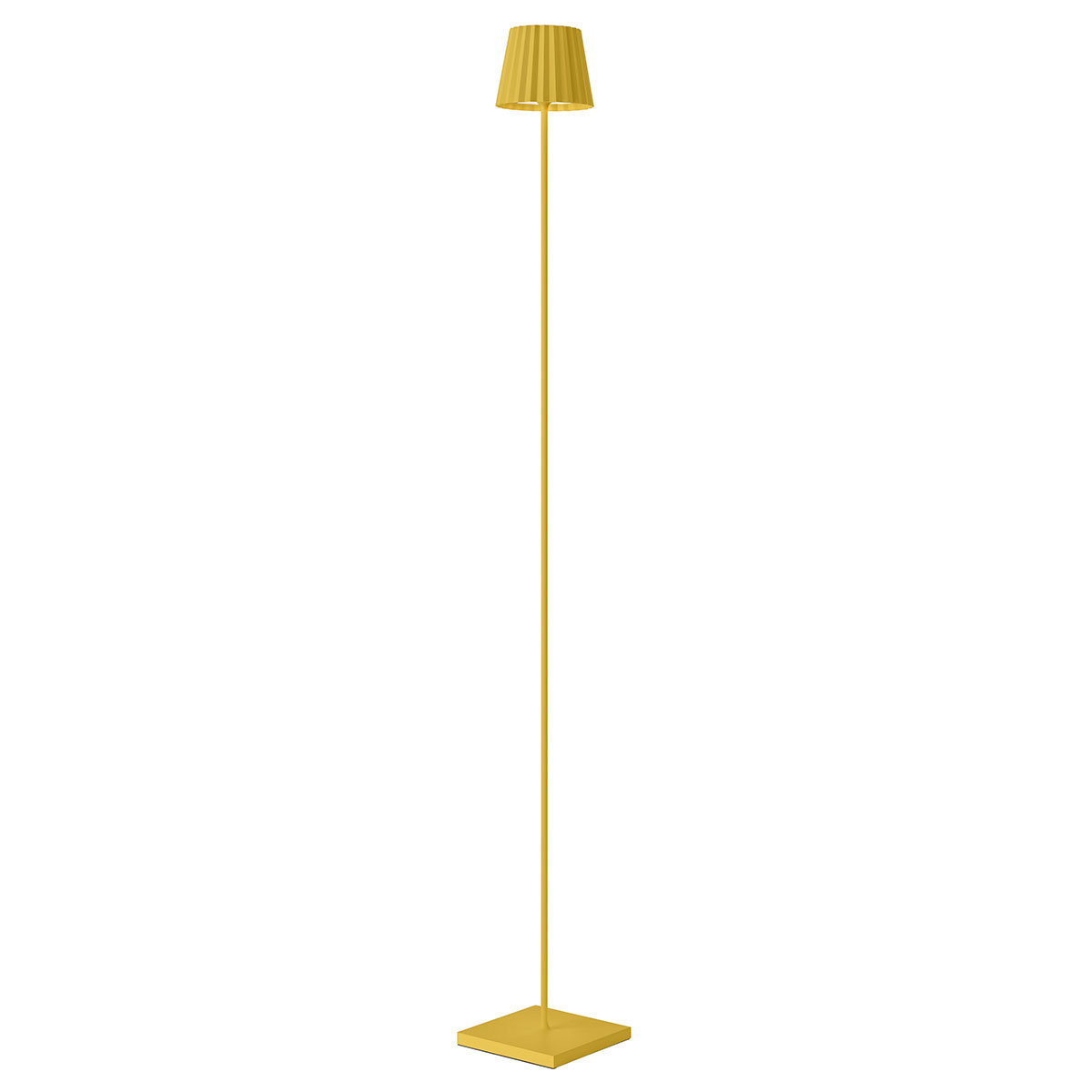 Akku Stehleuchte Troll, 120x15x15 cm, Aluminium, gelb