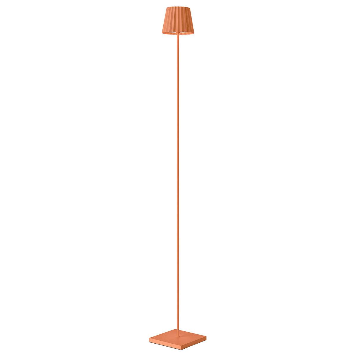 Akku Stehleuchte Troll, 120x15x15 cm, Aluminium, orange