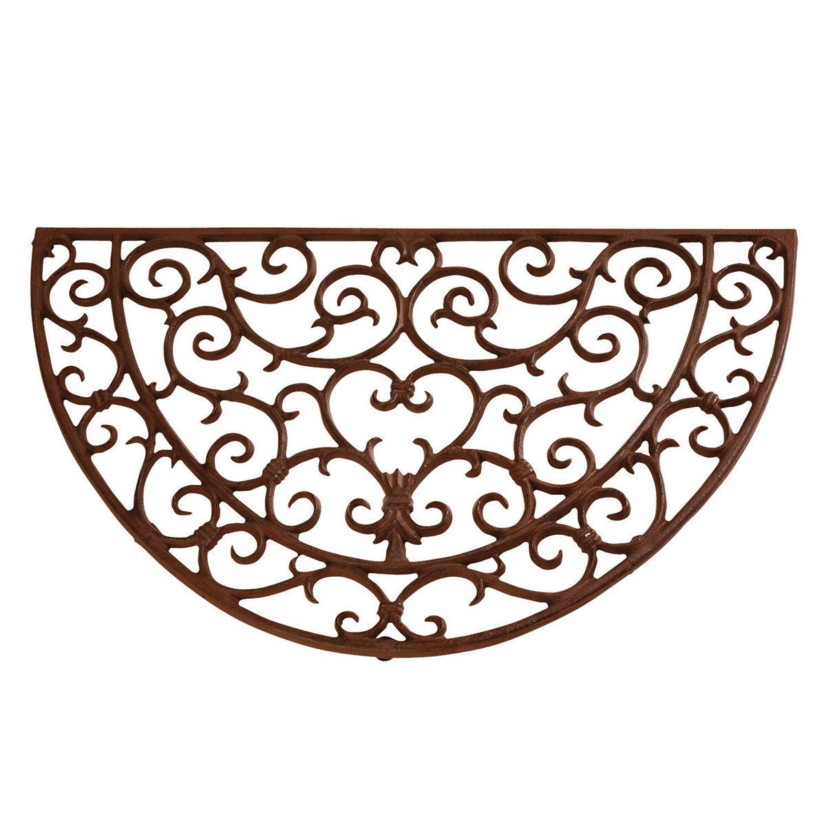 Fußmatte Viktoria, 2,3x40x69 cm, Gusseisen, braun