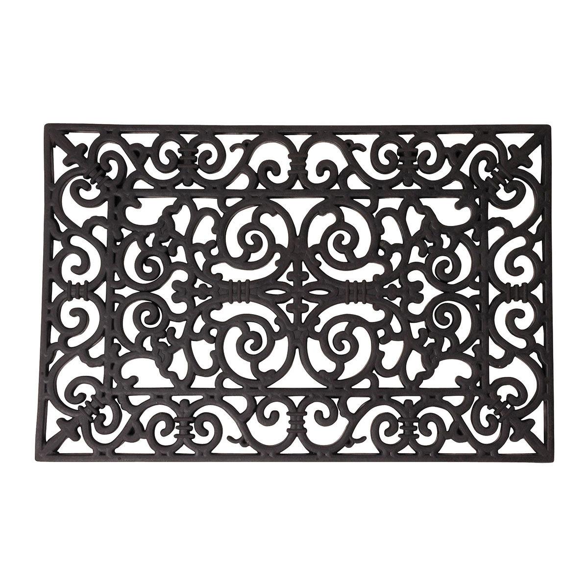 Design Fußmatte Sophie, 1,4x38,3x66,5 cm, Gummi, schwarz