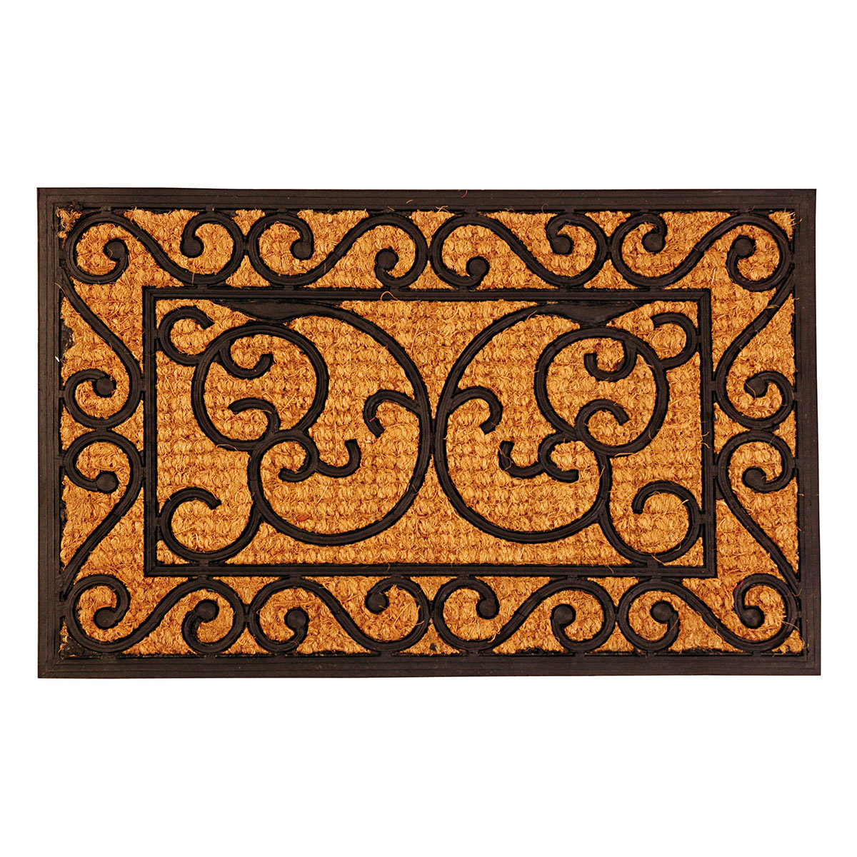 Fußmatte Winston, Gummi und Kokos, 39,5 x 59,5 cm