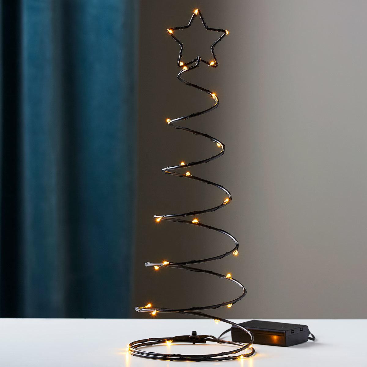 LED-Baum Dizzytree, 40x15x15 cm, Metall, schwarz
