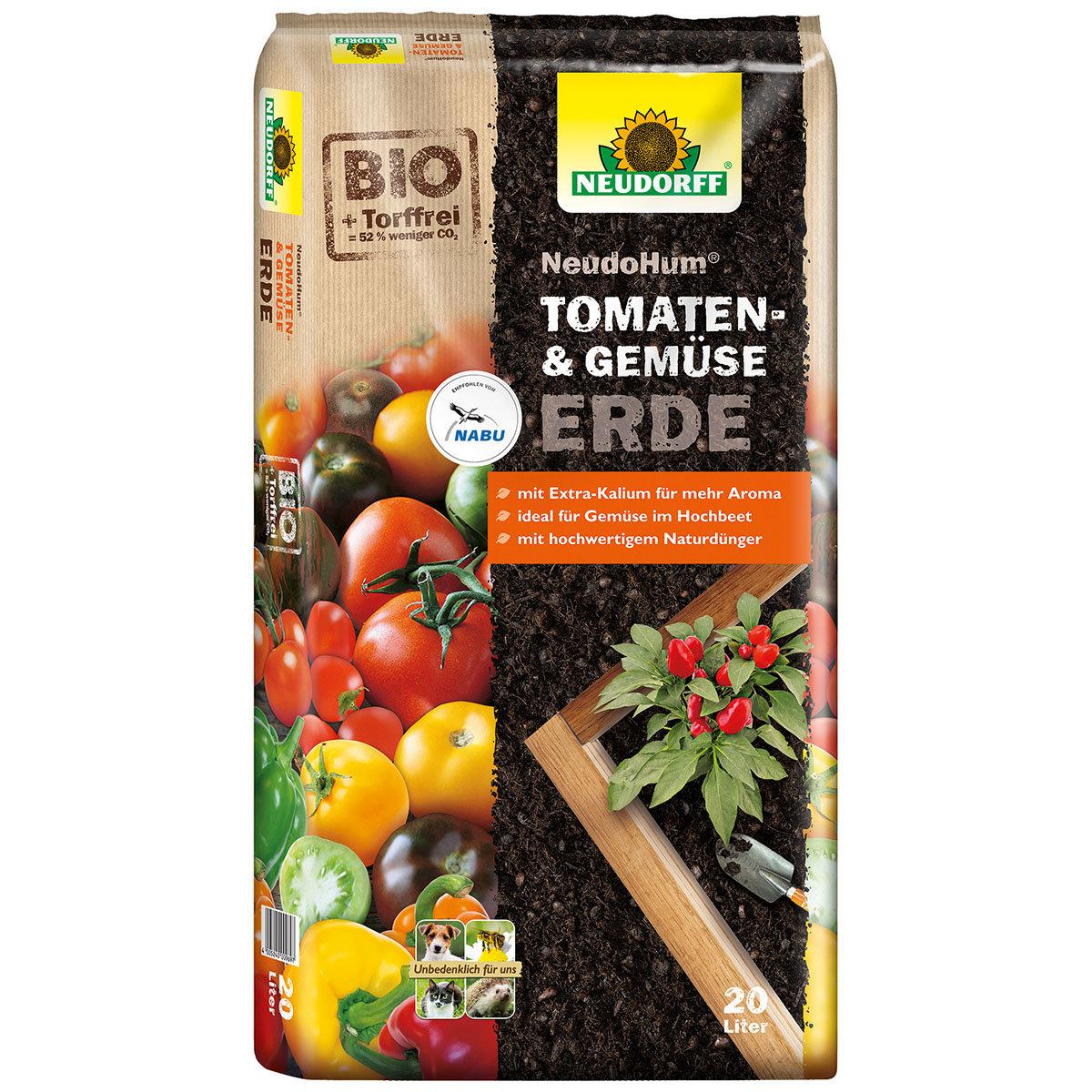 NeudoHum® Tomaten- und Gemüseerde, 20 Liter