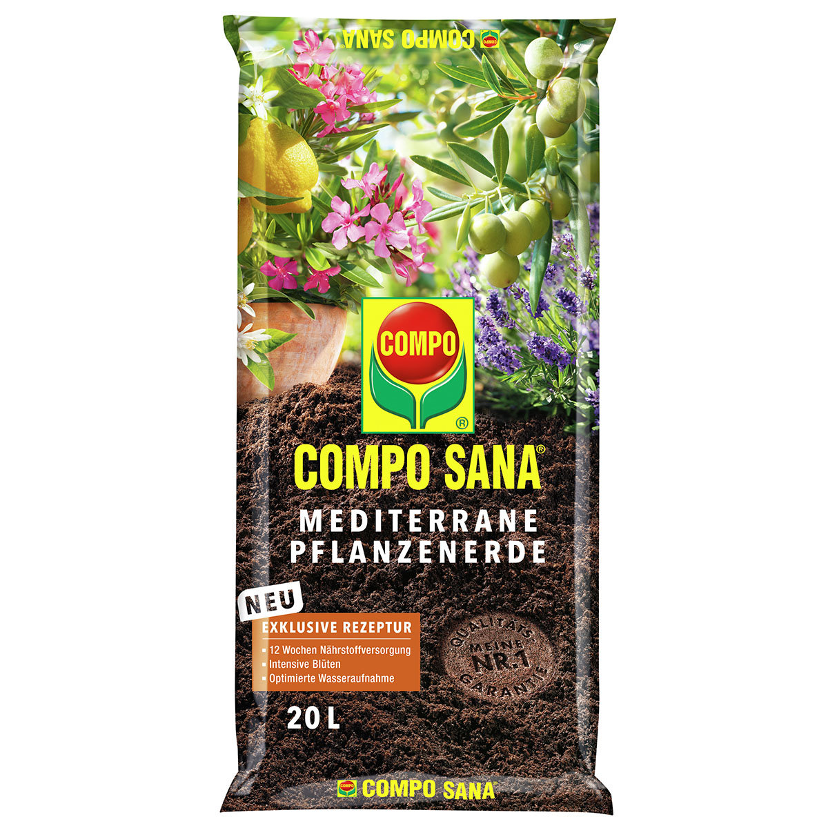 Compo Sana® Mediterrane Pflanzenerde, 20 Liter