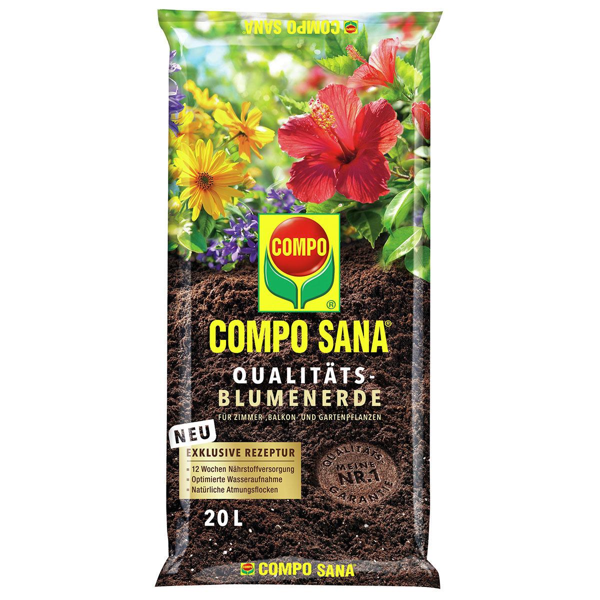 Compo Sana® Qualitäts-Blumenerde, 20 Liter