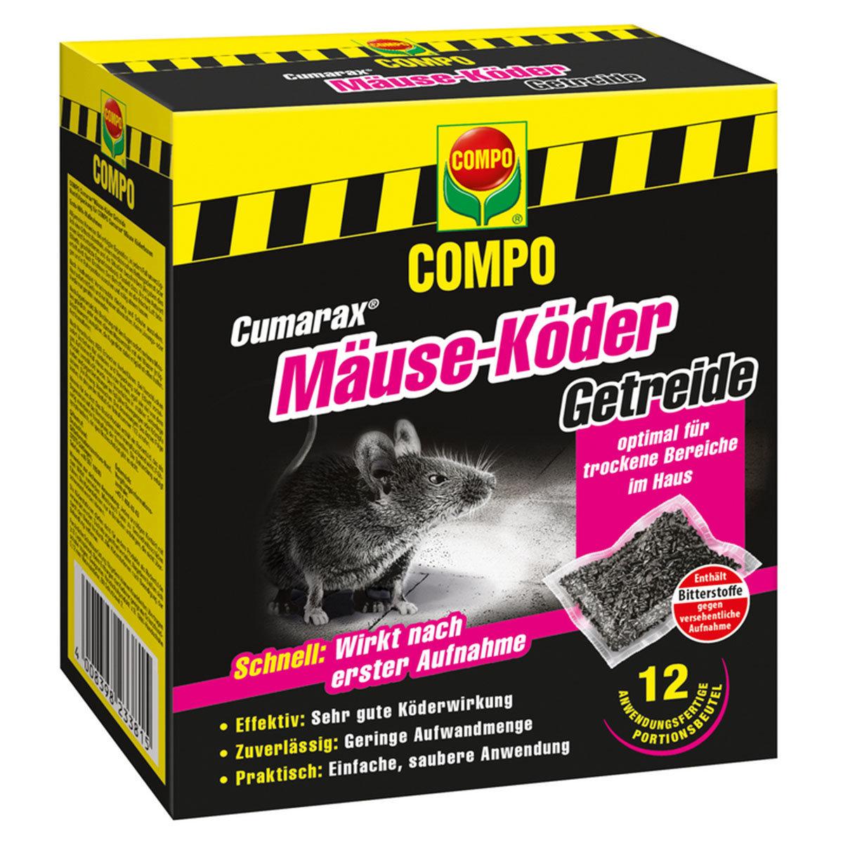 Cumarax® Mäuse-Köder Getreide, 120g