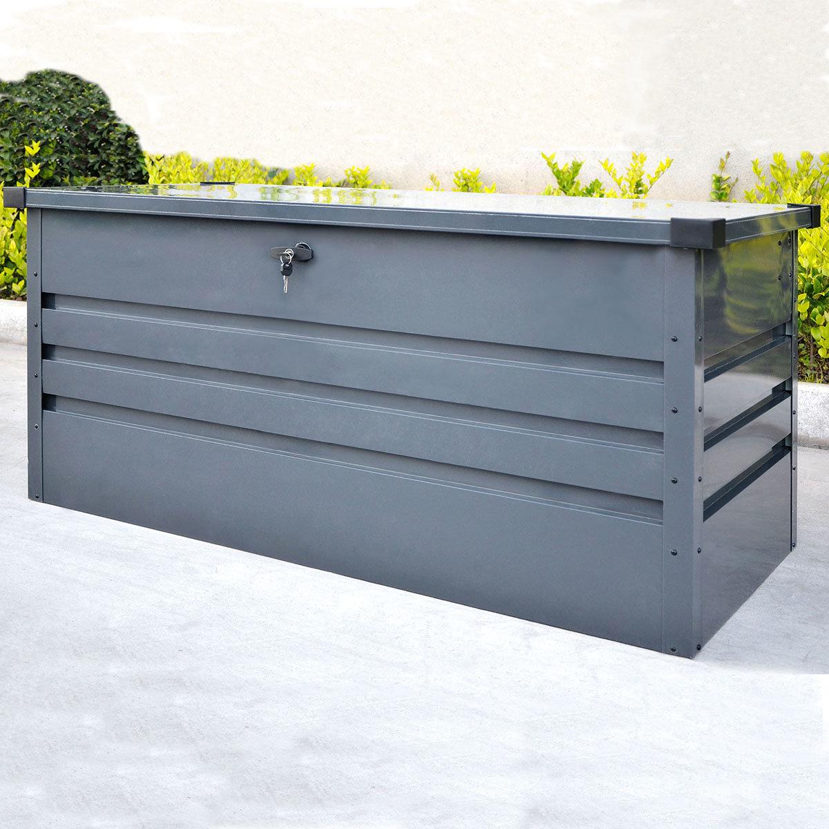 Auflagenbox Mega, mit Bodenplatte, verschließbar, 400 Liter Volumen