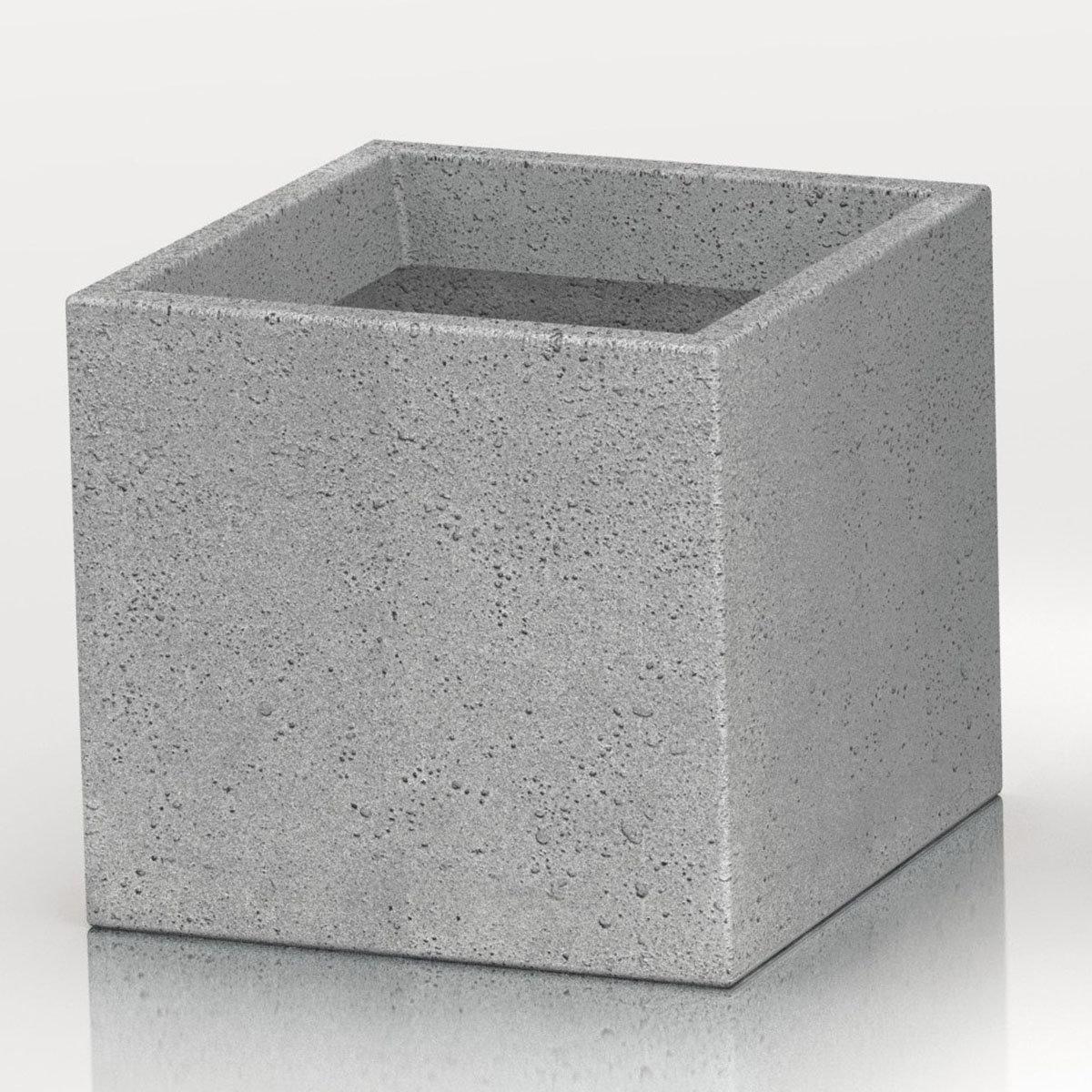 Pflanzkübel Cube, 38x38x33 cm, Stony Grey