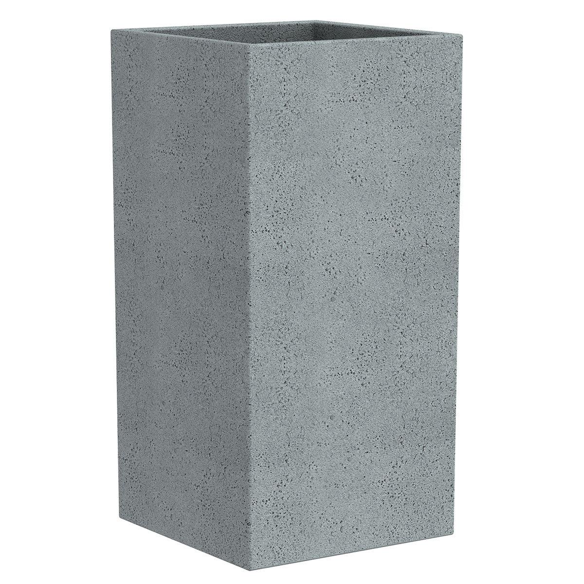 Pflanzkübel High Cube, 28x28x48 cm, Stony Grey