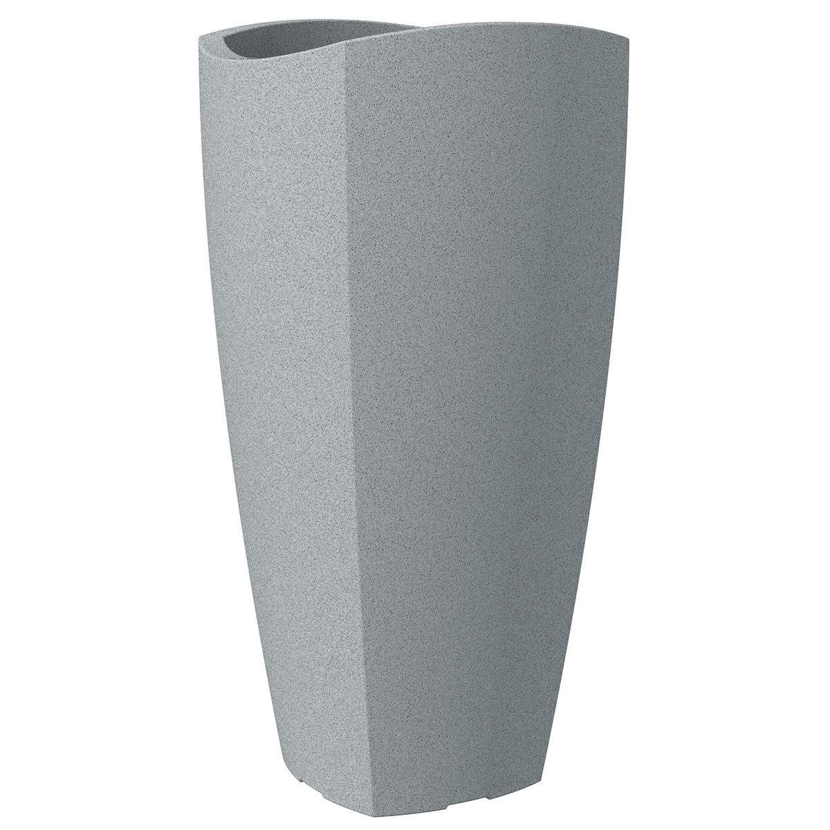 Pflanzkübel Wave High Cubo, 30x60 cm, Stony Grey
