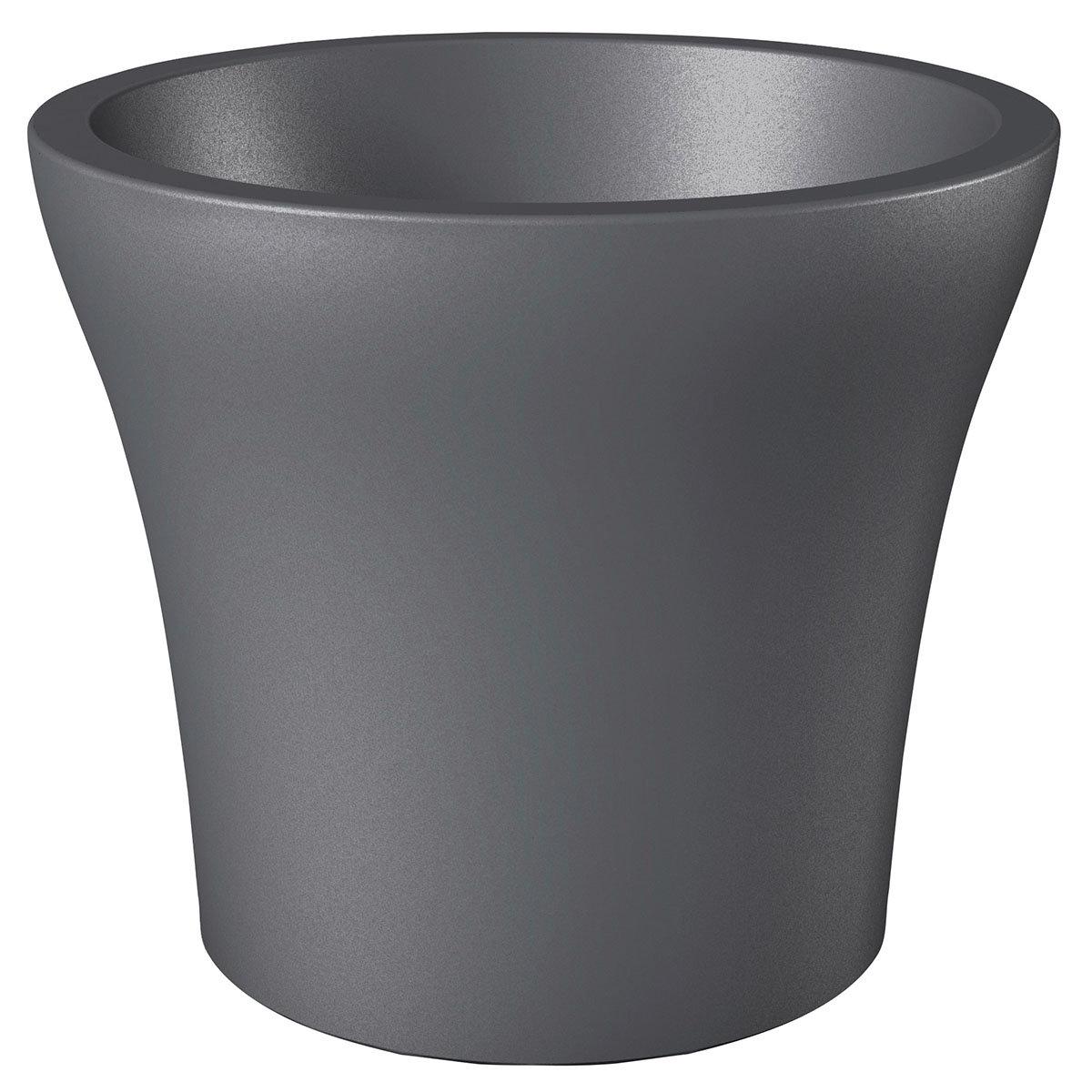 Pflanzkübel No.1 Style, 48 cm, Metallic Grey