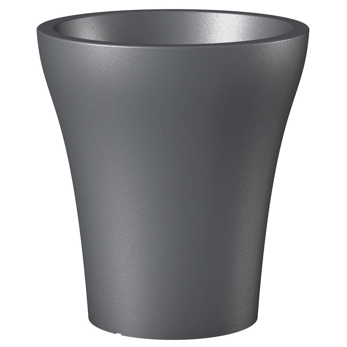 Pflanzkübel No.1 HighStyle, 32 cm, Metallic Grey