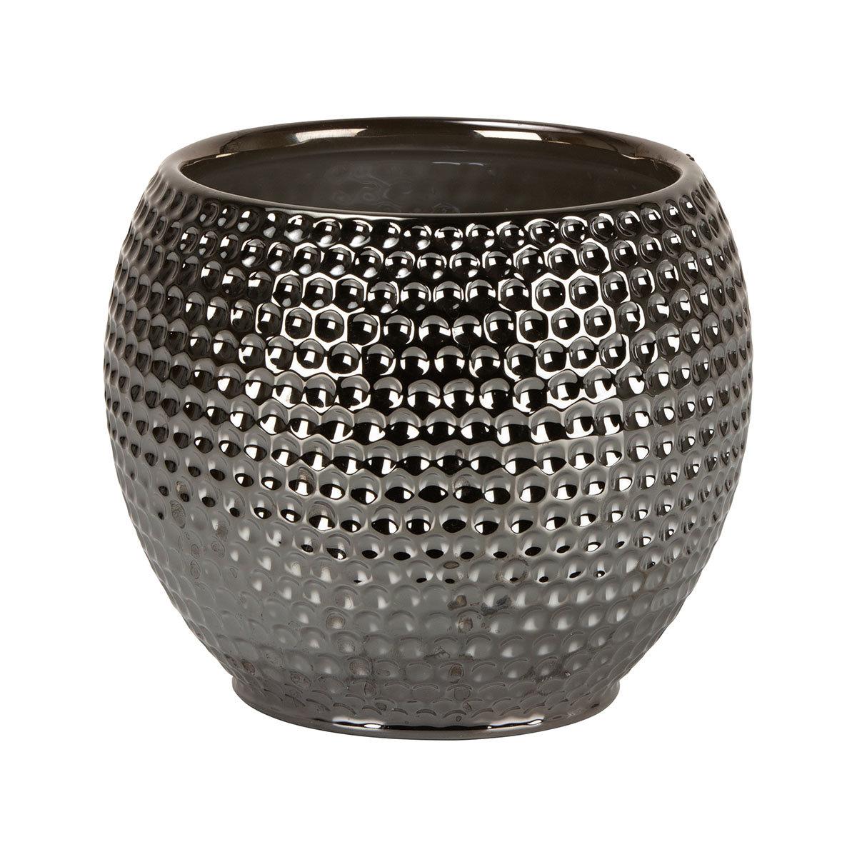 Übertopf Titanium Silver, 15 cm, Silber