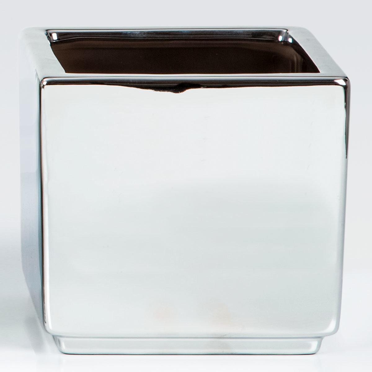 Übertopf Mirror Silver, 15 cm, Silber