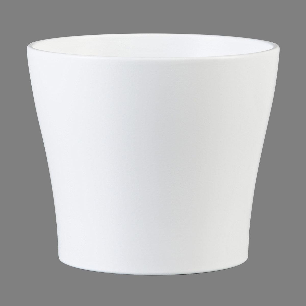 Übertopf Panna, 13 cm, Weiß